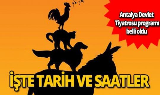 Antalya Devlet Tiyatrosu Ekim ayı programı belli oldu