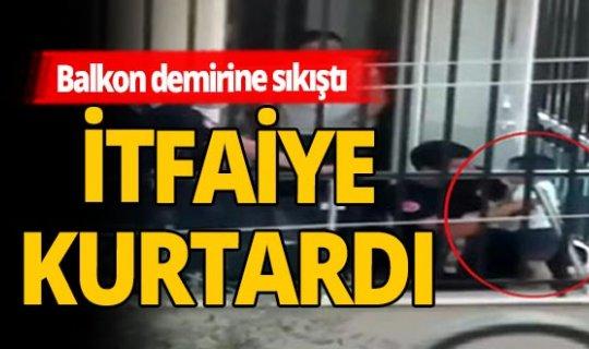 Antalya haber: Küçük çocuk başını balkon demirine sıkıştırdı
