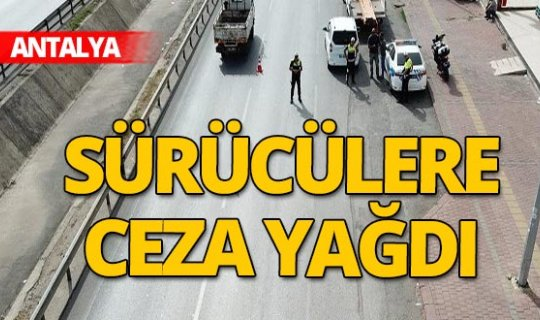 Antalya haber: Drone ile trafik denetimi yapıldı