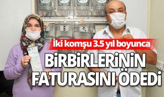 Antalya haber: İki komşu, yanlışlıkla 3,5 yıl birbirlerinin faturasını ödemiş