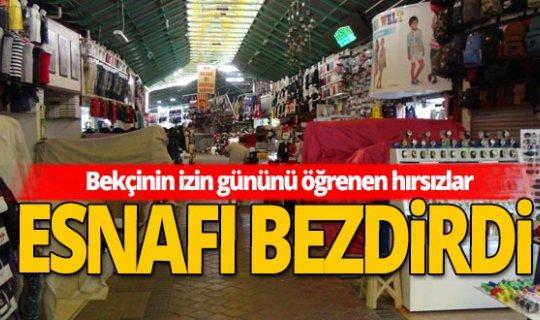 Antalya haber:  Kapalı Çarşı'ya dadanan hırsızlar, tezgahlardaki ürünleri çaldı