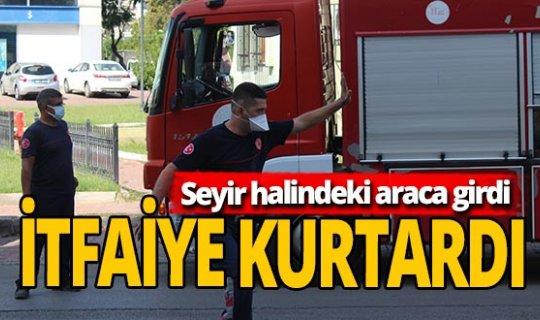 Antalya haber: Seyir halindeki aracın önüne fırladı!