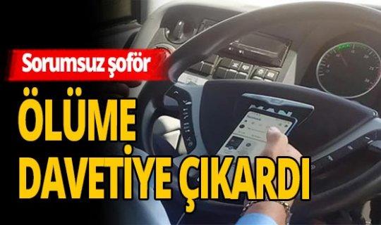 Antalya haber: Sorumsuz otobüs şoförü ölüme davetiye çıkardı
