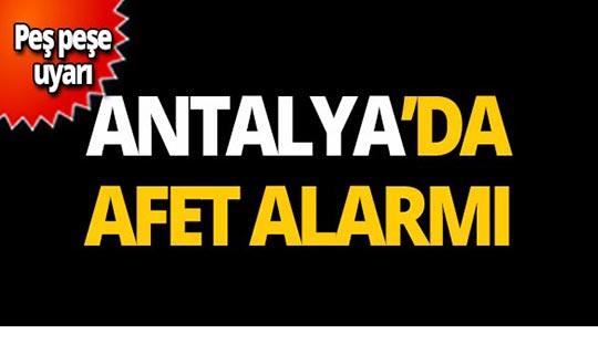 Antalya için korkutan uyarı: Çok tehlikeli meteorolojik hadise bekleniyor