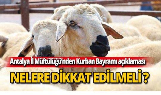 Antalya İl Müftülüğü'nden kurban açıklaması!