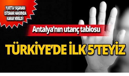 Antalya'nın çocuk istismarı utancı!