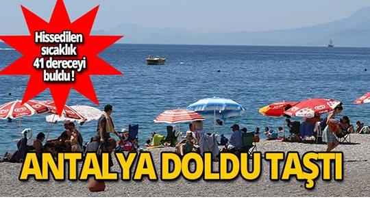 Antalya tatilcilerle doldu taştı!