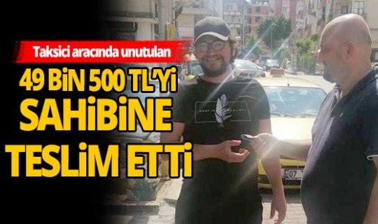 Antalyalı taksiciden alkışlanacak hareket!