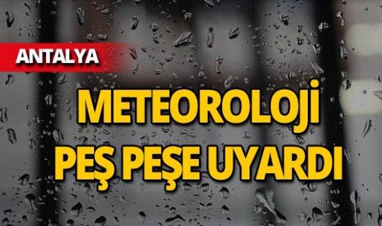 Antalyalılar dikkat! Meteoroloji sahil kesimleri için uyardı