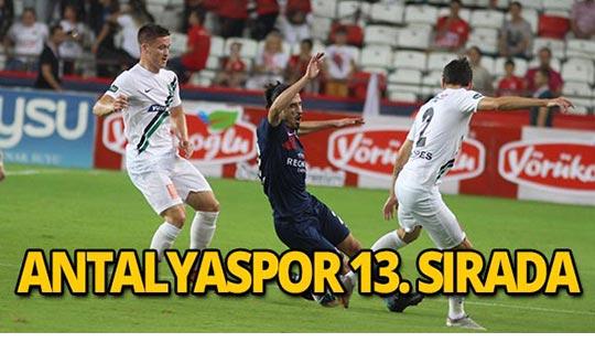 Antalyaspor 13. sırada yer aldı