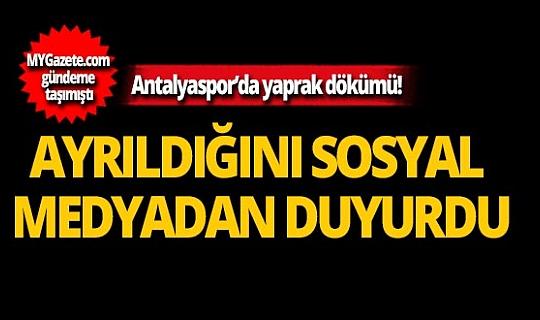 Antalyaspor'da yaprak dökümü!