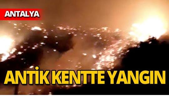 Antik kentte korkutan yangın!