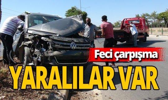 Araçlar birbirine girdi: 5 yaralı