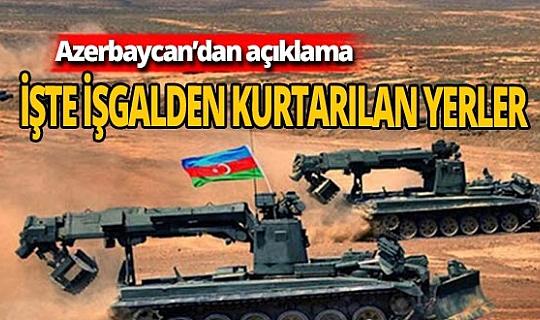 Azerbaycan işgalden kurtarılan yerleri açıkladı