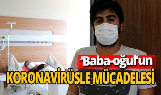 Baba-oğul koronavirüs mücadelesi