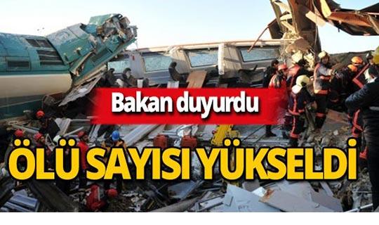 Bakan açıkladı : Tren kazasında ölü sayısı yükseldi!