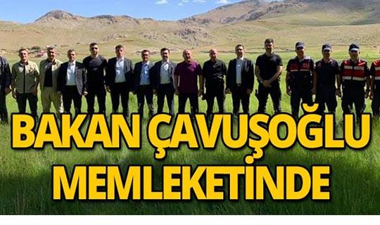 Alanyalı Bakan Mevlüt Çavuşoğlu hemşehrileriyle yayla da kucaklaştı