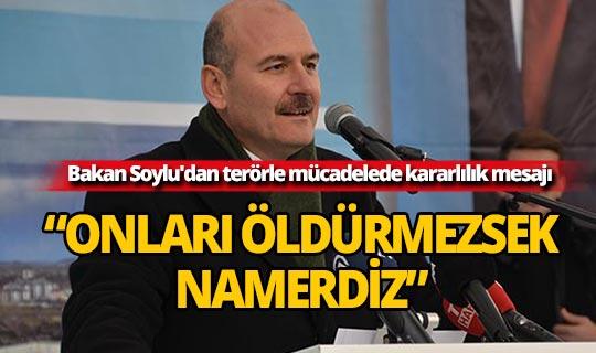 Bakan Soylu'dan terörle mücadelede kararlılık mesajı...