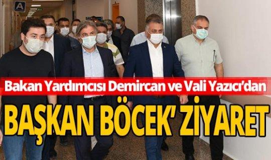 Bakan Yardımcısı Demircan ve Vali Yazıcı'dan Başkan Böcek'e ziyaret