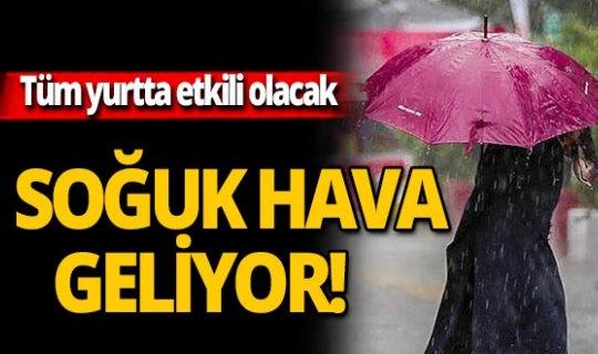 Balkanlar'dan kuvvetli yağış ve soğuk geliyor