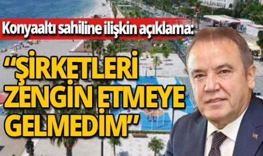 Başkan Böcek'ten Konyaaltı sahili açıklaması!