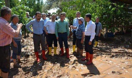 Başkan Öztekin Elmalı'daki 2 sel felakati hakkında konuştu