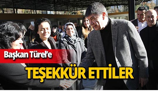 """Başkan Türel: """"Destek sizden hizmet bizden"""""""