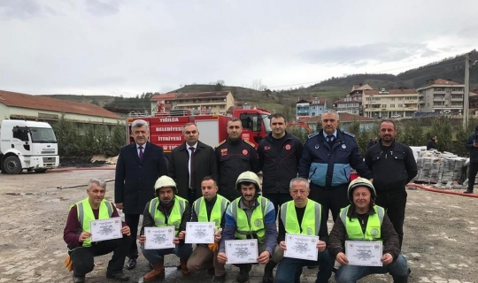 Başkan Yiğit, ateş savaşçıları ekibi kurdu