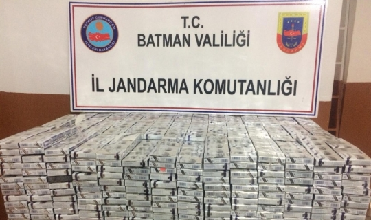 Batman'da 4 bin paket kaçak sigara ele geçirildi