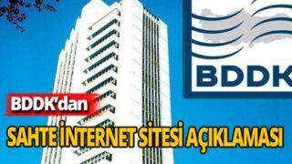BDDK'dan sahte internet sitesi uyarısı!