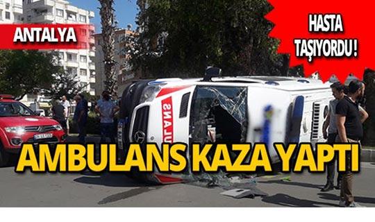 Bebek hastayı taşıyan ambulans kaza yaptı!