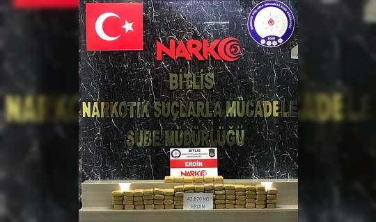 Bitlis'te 3 milyon değerinde eroin ele geçirildi