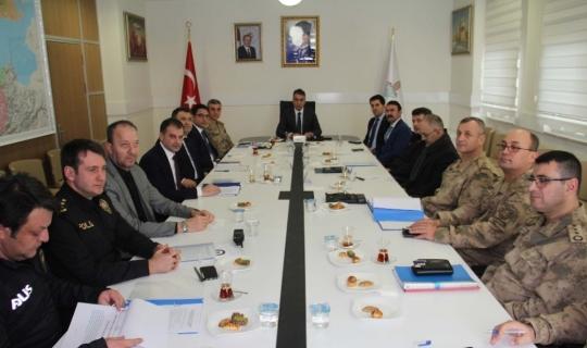 Bitlis'te seçim güvenliği toplantısı