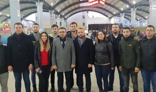 Bülent Erdoğan pazar esnafıyla buluştu