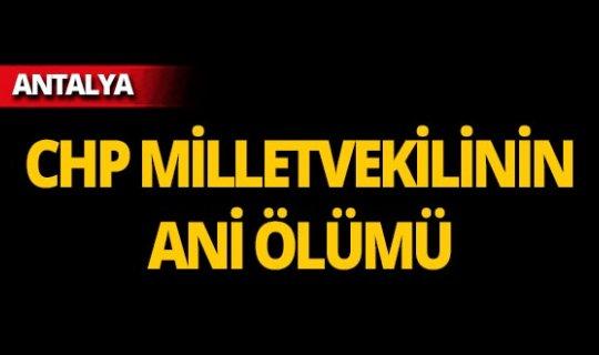 CHP milletvekili Antalya'da hayatını kaybetti!