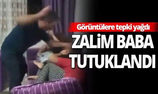 Çocuklarını dövdü, sosyal medyadan canlı yayınladı!
