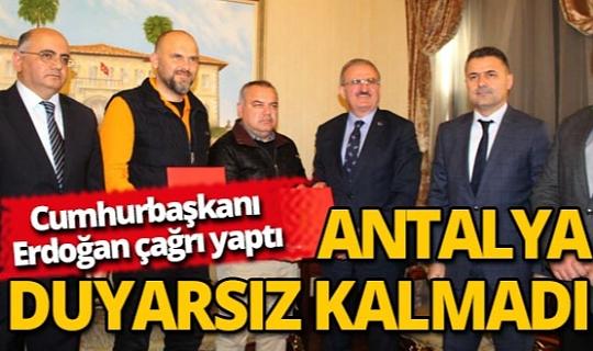 Cumhurbaşkanı eğitime destek çağrısına ilk cevap Antalya'dan