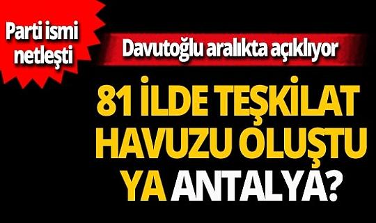 Davutoğlu partiyi aralıkta kuruyor