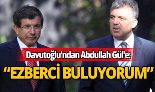 """Davutoğlu'ndan Abdullah Gül'e """"siyasal İslam"""" tepkisi"""