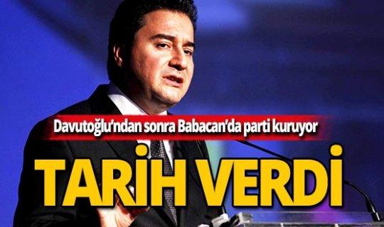 Davutoğlu'ndan sonra Babacan'ın partisi için tarih verildi