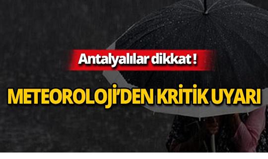 Dikkat! Kuvvetli yağış uyarısı