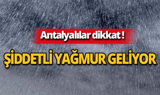 Dikkat! Şiddetli yağmur geliyor