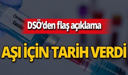 DSÖ'den flaş koronavirüs aşısı açıklaması