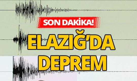Elazığ'da 4 büyüklüğünde deprem kaydedildi