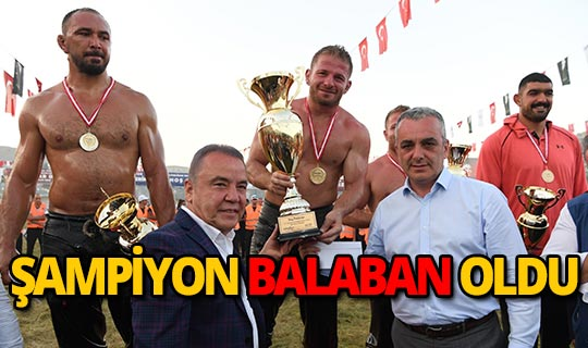 Feslikan'da şampiyon İsmail Balaban oldu