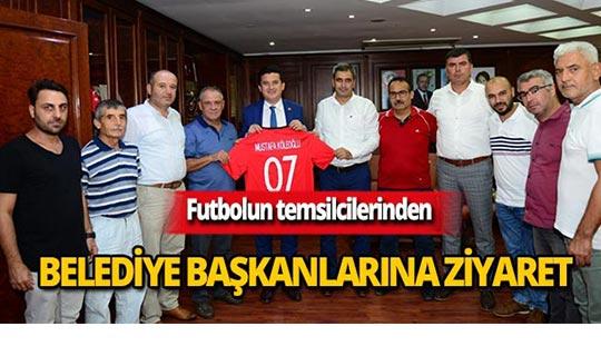Futbolun temsilcilerinden belediye başkanlarına ziyaret