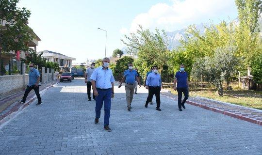 Kemer Belediyesi'nden Göynük'te alt yapı çalışmaları