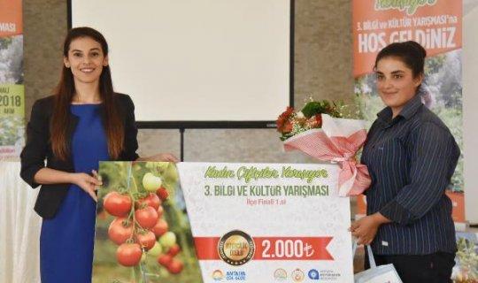 Gündoğmuş'un kadın çiftçisi Yılmaz birinci oldu