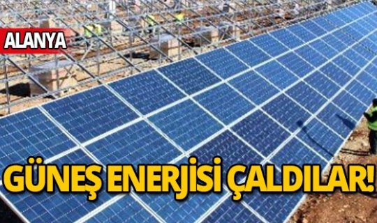 Güneş enerjisi hırsızı jandarmadan kaçamadı