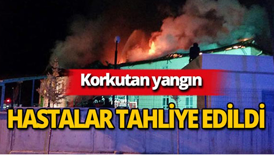 Hastane çatısında yangın!